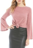 Gianni Bini Dev Bell Sleeve Tie Front Sweater