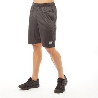 Canterbury of New Zealand Mens VapoDri Lightweight Stretch Poly Shorts Vanta Black Marl