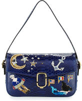 Marc Jacobs J Marc Embroidered Python Shoulder Bag