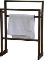Houseology Wireworks Mezza Towel Rail - Dark Oak