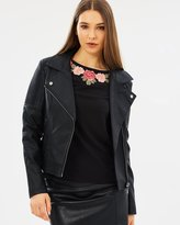 Oasis Faux Leather Biker Jacket