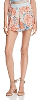 Olivaceous High-Waist Floral Shorts