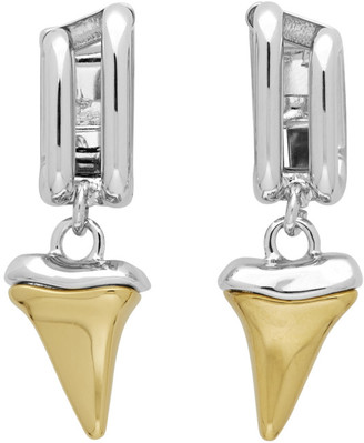 Chloé Silver and Gold Shark Tooth Earrings