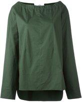 Marni drawstring neck blouse - women - Cotton - 42