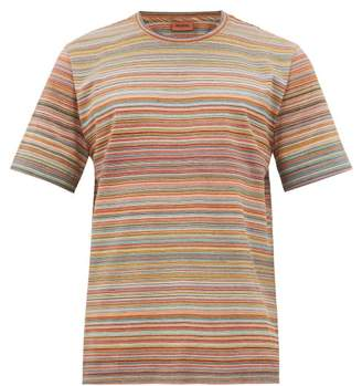 Missoni Striped Cotton-jersey T-shirt - Mens - Yellow Multi