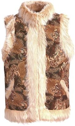 Sonia Fashions Ladies Fur Waistcoat Front Pockets and Zip Closure Winter Warm (Medium/Large