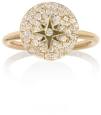 Noush 14ct Yellow Gold North Star Ring