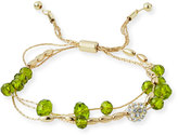 Fragments for Neiman Marcus Crystal-Beaded Pull-Tie Bracelet, Green