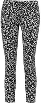 R 13 Mid-Rise Leopard-Print Skinny Jeans