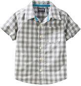 Osh Kosh Boys 4-8 Woven Short-Sleeved Button-Front Shirt