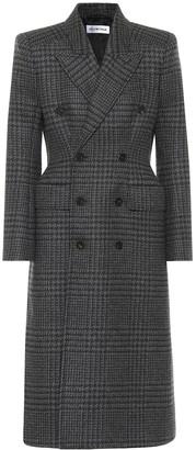 Balenciaga Hourglass checked virgin wool coat