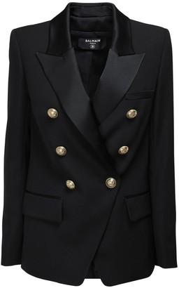 Balmain Oversized Wool Blend Jacket