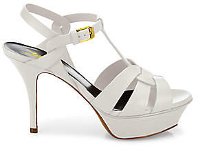 Saint Laurent Women's Tribute 75 Leather Platform Sandals