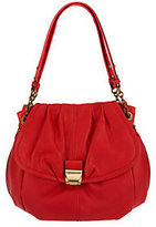 B. Makowsky Glove Leather Ruched Shopper with Chain Detail