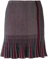 Carven ribbed pleated skirt