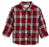 DL1961 Infant Girl's Plaid Shirt