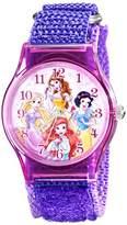 Disney Kids' W001697 Princess Analog Display Analog Quartz Purple Watch
