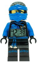 LEGO Ninjago Sky Pirates Jay Kids Minifigure Light Up Alarm Clock | blue/black | plastic | 9.5 inches tall | LCD display | boy girl | official