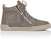 Giuseppe Zanotti MEN'S LEATHER DOUBLE-ZIP HIGH-TOP SNEAKERS