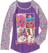 Shopkins and Moose Shopkins Long Sleeve Shirt for Girls (Small 6/6x, Pink Stripe-SPK)