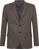 Oxford Max Checked Wool Blend Blazer Gry X
