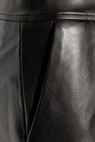 ADAM by Adam Lippes Double-faced leather wide-leg pants