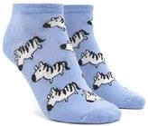 Forever 21 FOREVER 21+ Zebra Ankle Socks