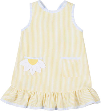 Florence Eiseman Girl's Striped Sunflower Cutout Ruffle Dress, Size 2-6