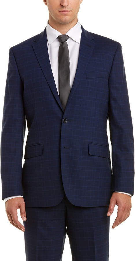 Kenneth Cole New York 2Pc Wool-Blend Suit With Flat Front Pant