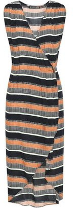 Vix Paula Hermanny Saona Gisele Wrap-effect Striped Woven Dress