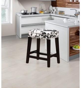 """Loon Peak Waldenburg Bar & Counter Stool Seat Height: Counter Stool (24.5"""" Seat Height), Upholstery: Black Cow Print"""