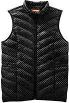 Joe Fresh Women's Print Quilted Puffer Vest, Black (Size M)