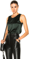 Nili Lotan Alice Tank Top in Green.