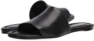 Massimo Matteo Leather Slide Sandal (Caramel) Women's Shoes