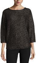 WORTHINGTON Worthington 3/4 Sleeve Scoop Neck Pullover Sweater-Talls