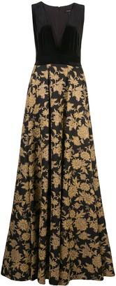 Tadashi Shoji Nien jacquard gown