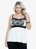 Babydoll Torrid Lace Front Cami