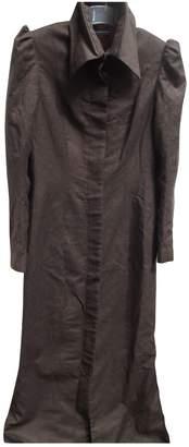 Maria Grachvogel Brown Wool Coat for Women