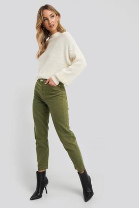 Trendyol High Waist Mom Jeans Green