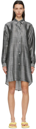 MM6 MAISON MARGIELA Black and White Check Shirt Dress