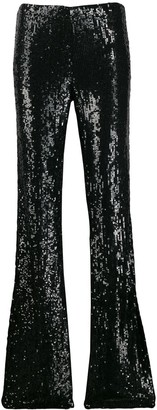 P.A.R.O.S.H. flared sequined trousers