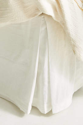 Anthropologie Relaxed Cotton-Linen Bed Skirt