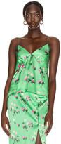 Bernadette BERNADETTE June Silk Satin Cami Top in Floral Pink & Green   FWRD