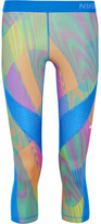 Nike Pro Hypercool Frequency Printed Stretch-jersey Leggings - Blue
