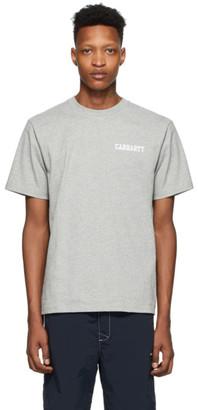 Carhartt Work In Progress Grey College Script T-Shirt