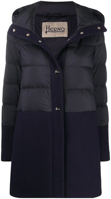 Herno Panelled Padded Coat