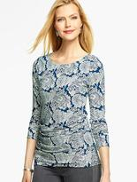 Talbots Ruched-Side Top - Elegant Paisley