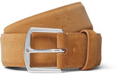 Loro Piana 3.5cm Tan Suede Belt