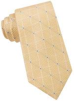 MICHAEL Michael Kors Tonal Grid Pipe Silk Tie