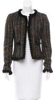 Chanel Mink-Trimmed Wool Jacket